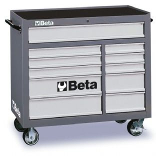 Beta C38-G Mobile Roller Cab With Eleven Drawers (Gray)